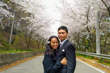 Majal and Regine Mirasol Korea 2019 Cherry Blossoms